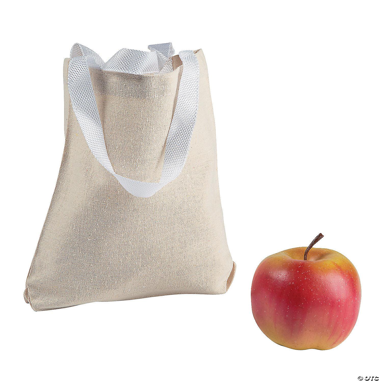 Diy Mini Canvas Tote Bags Oriental Trading