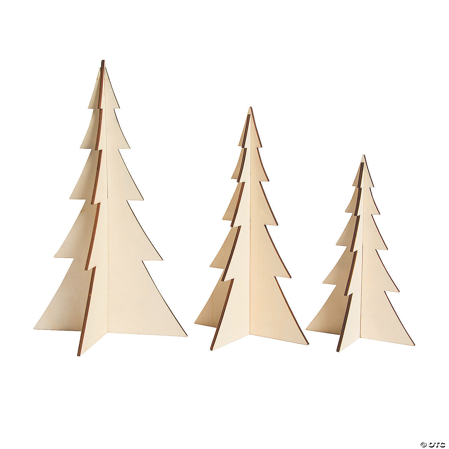 Diy Unfinished Wood 3d Stand Up Trees