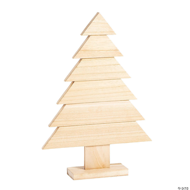 Diy Unfinished Wood Slat Christmas Tree