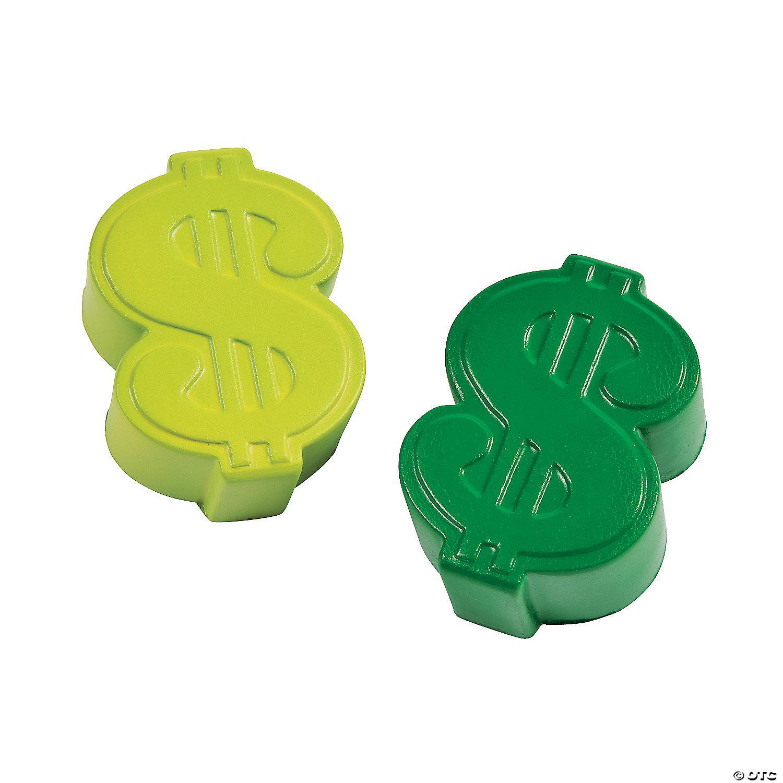 Dollar Sign Stress Toys