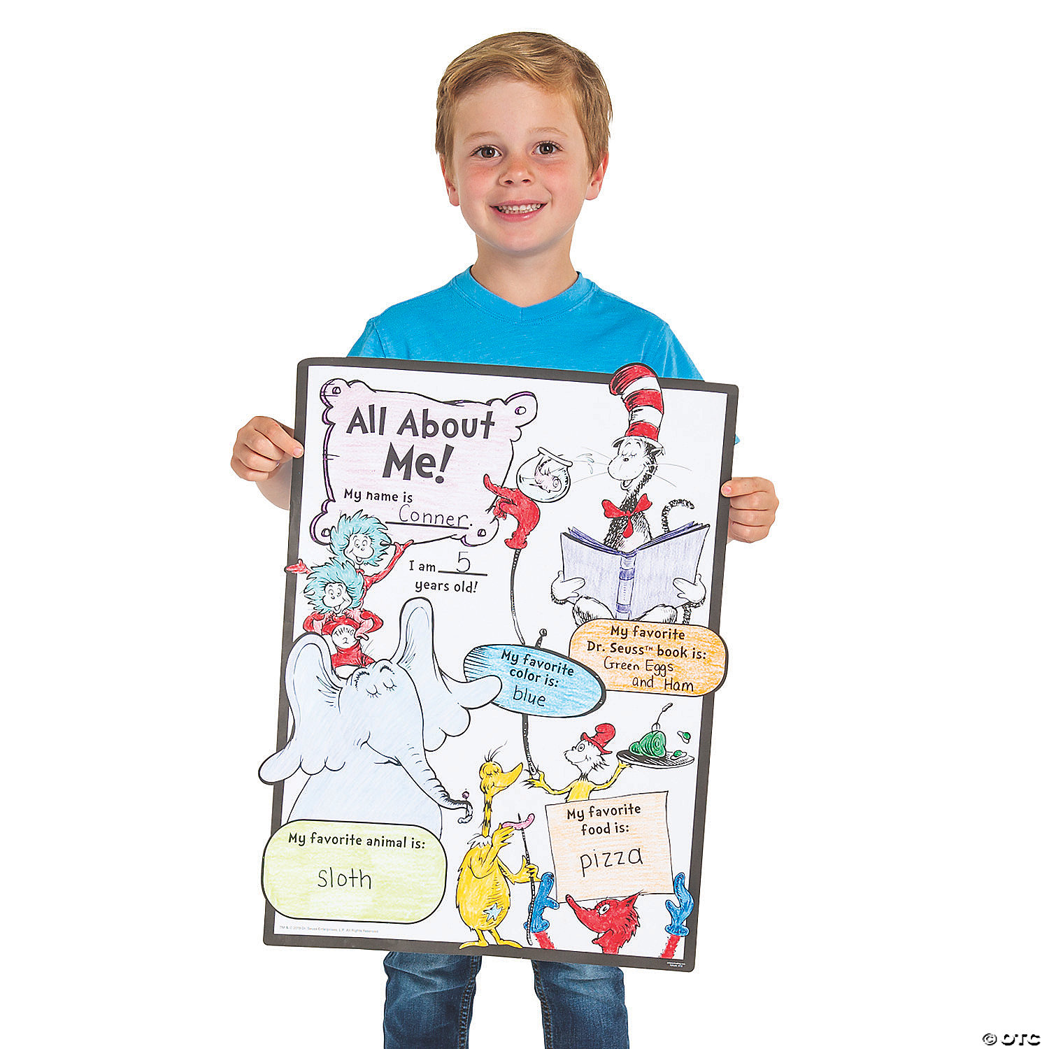 Dr Seuss Color Your Own All About Me Posters