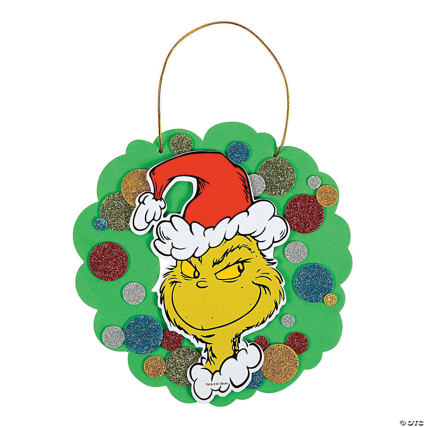 Dr Seuss The Grinch Christmas Wreath Craft Kit