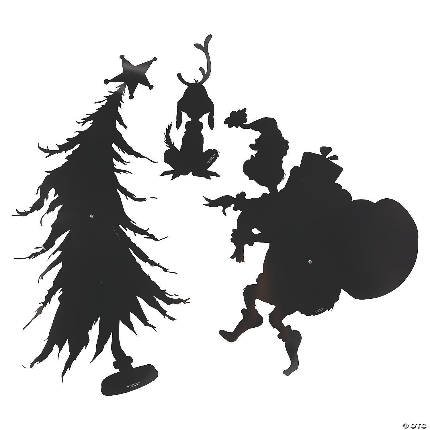 Dr Seuss The Grinch Large Silhouette Wall Cutouts Oriental Trading