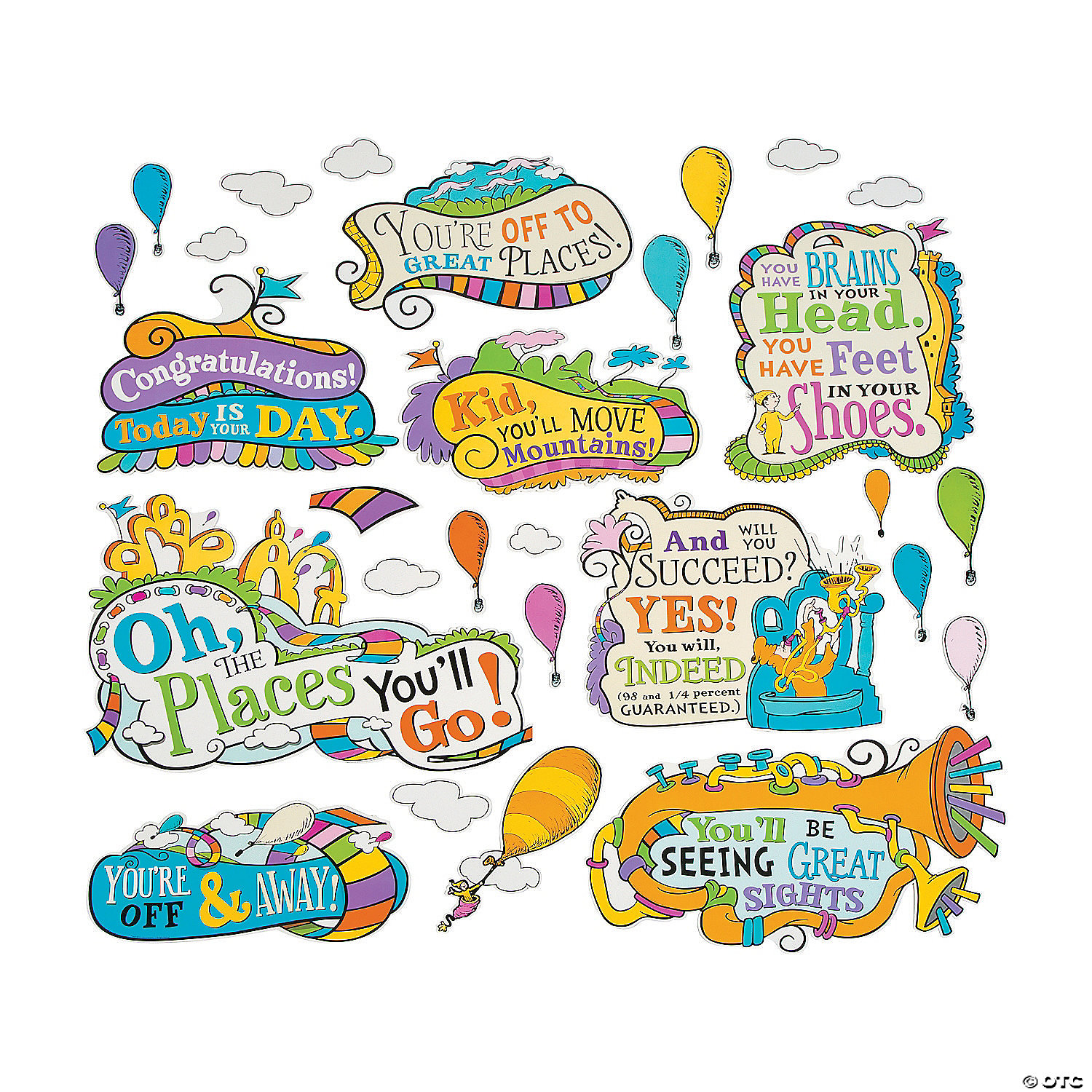 dr seuss oh the places you ll go bulletin board set