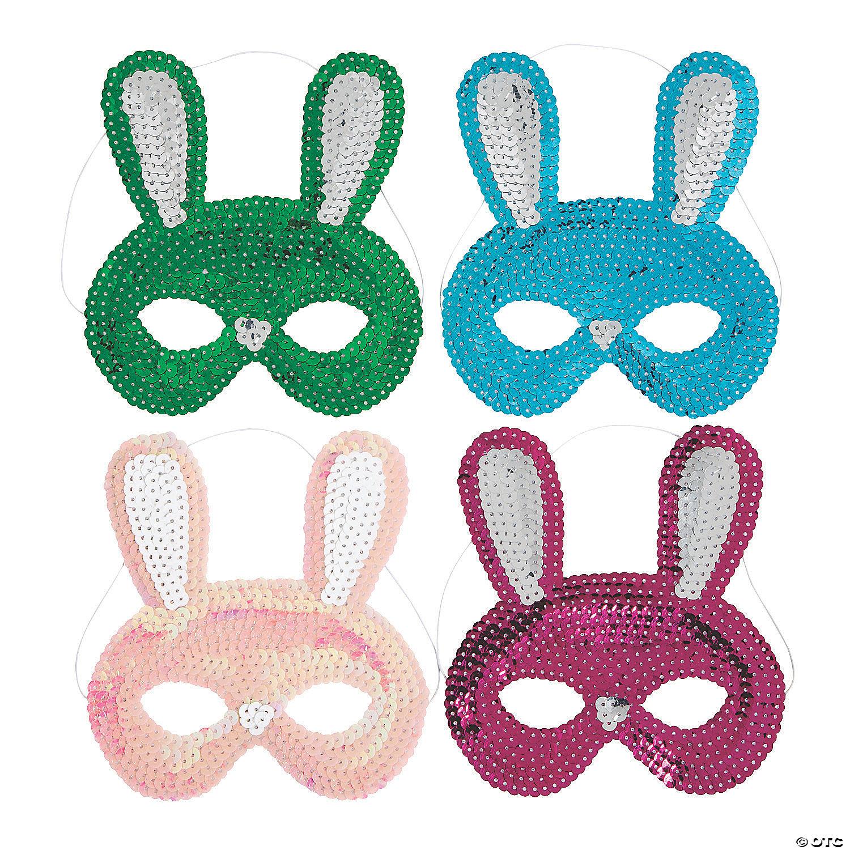 easter bunny sequin masks~13936480