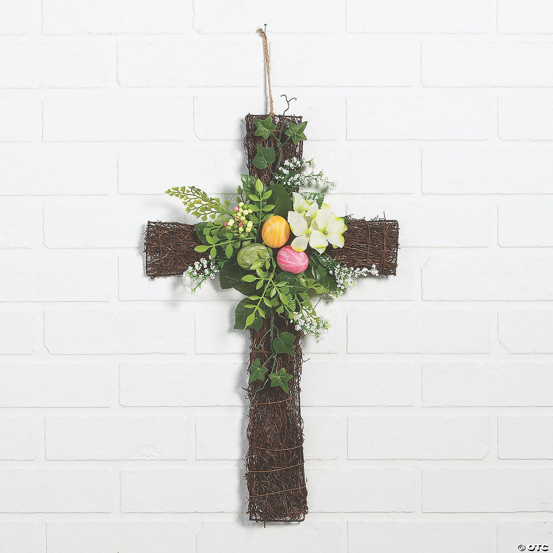 Easter Cross Wall Decor