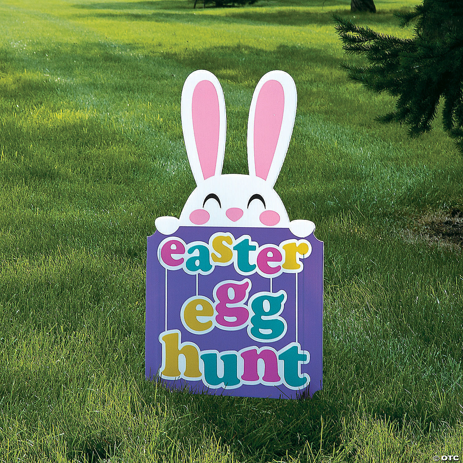Easter Egg Hunt Yard Signs Custom Bag Yard Signs Easter Directional Sign and Decorations Event Yard Sign