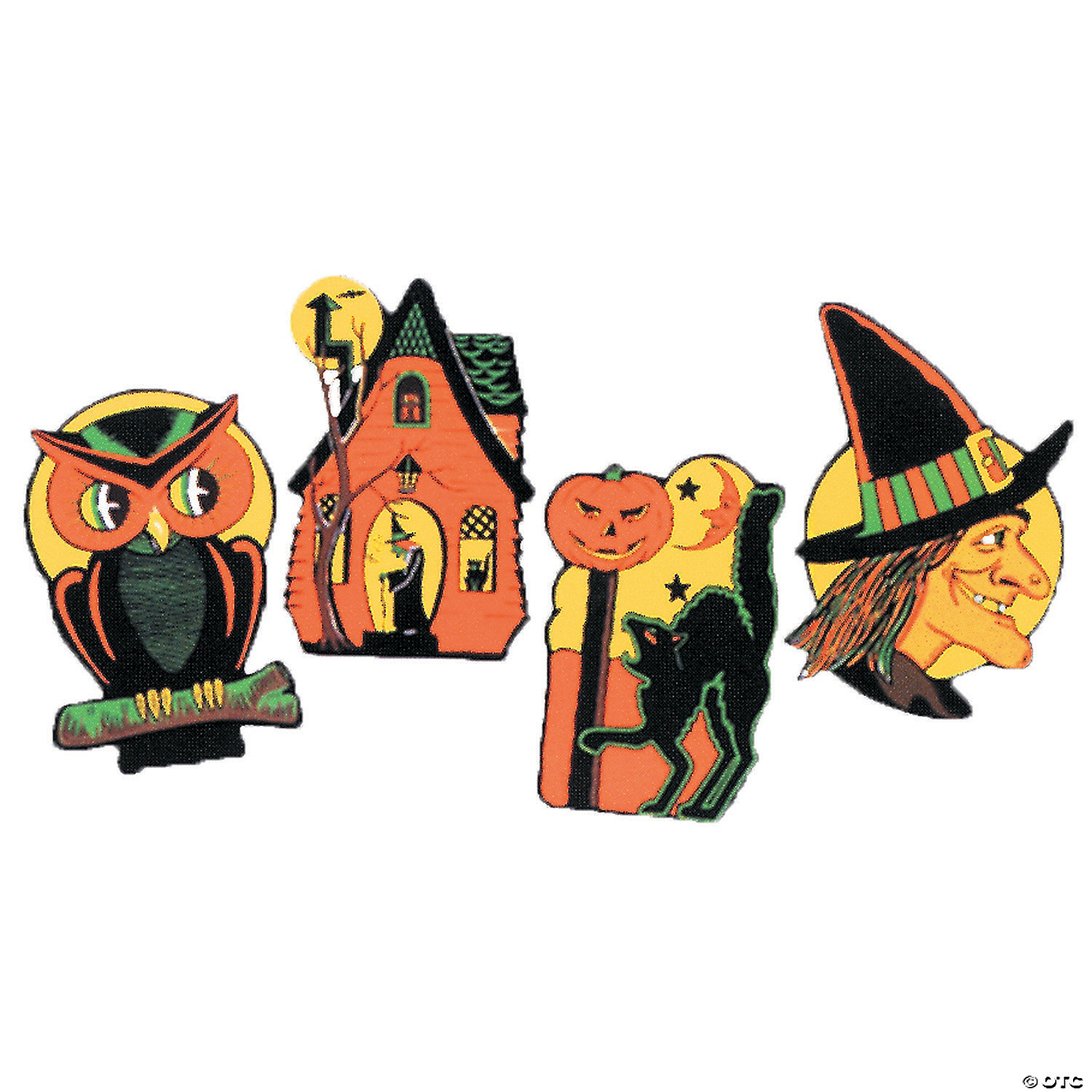 Embossed Cutout Halloween Decorations