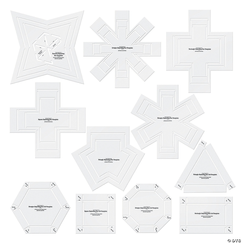 exploding box stencil templates discontinued