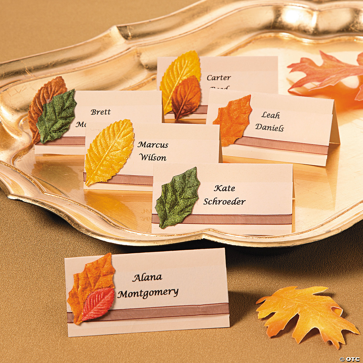 Fall Place Cards Idea Oriental Trading