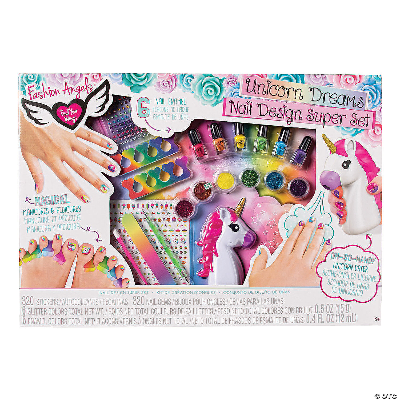 Fashion Angels Sup Sup Unicorn Dream Nail Design Boredom Buster Kit Discontinued