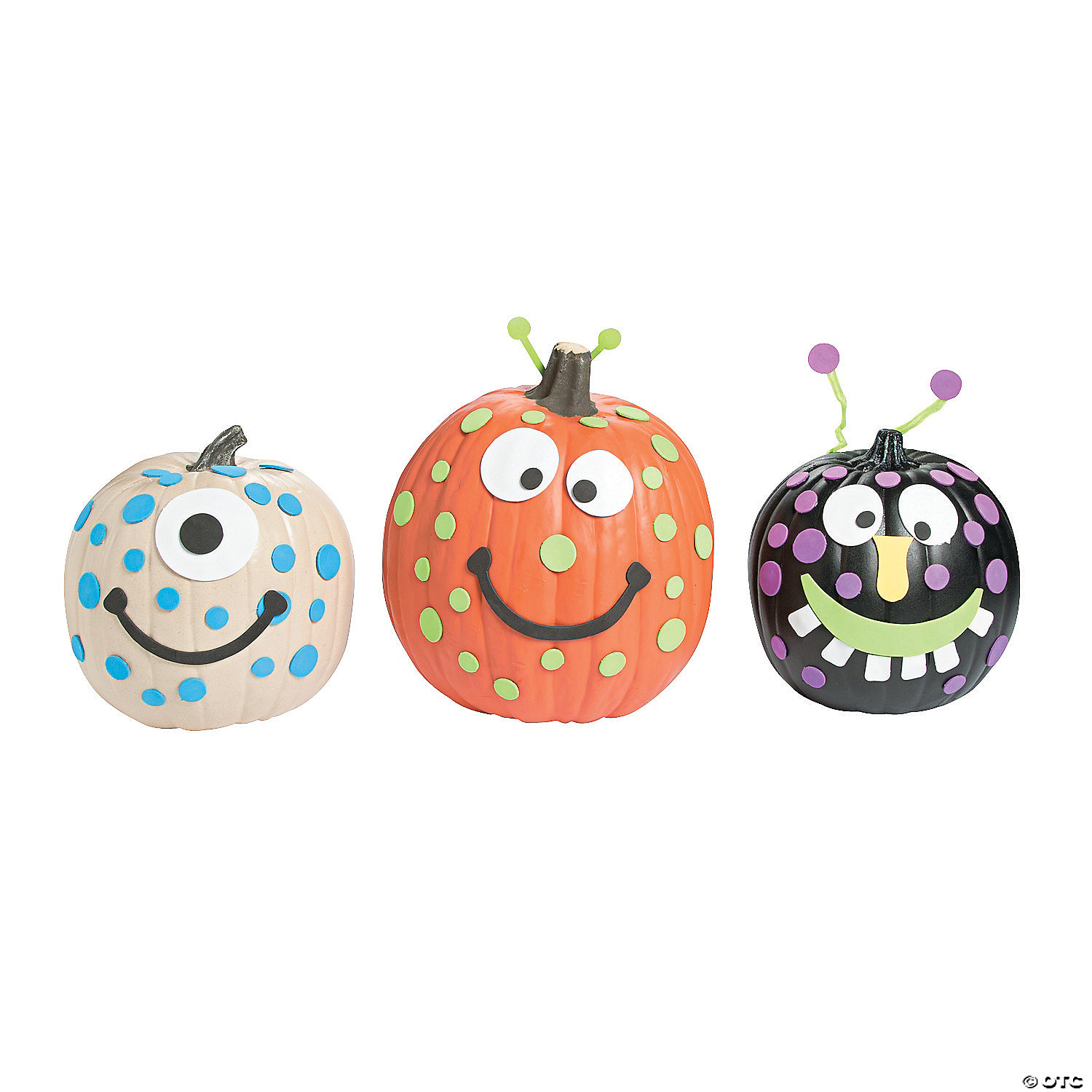 Foam Monster Pumpkin Decorating Craft Kit Oriental Trading