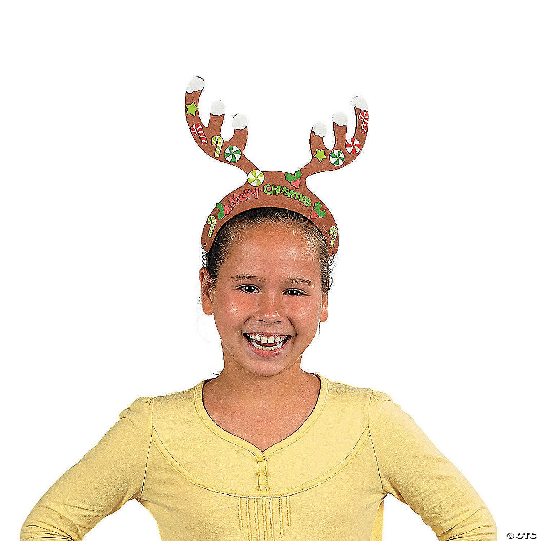 500 Reindeer Antler Headbands Christmas Party Hat Headbands Fun Party Nights