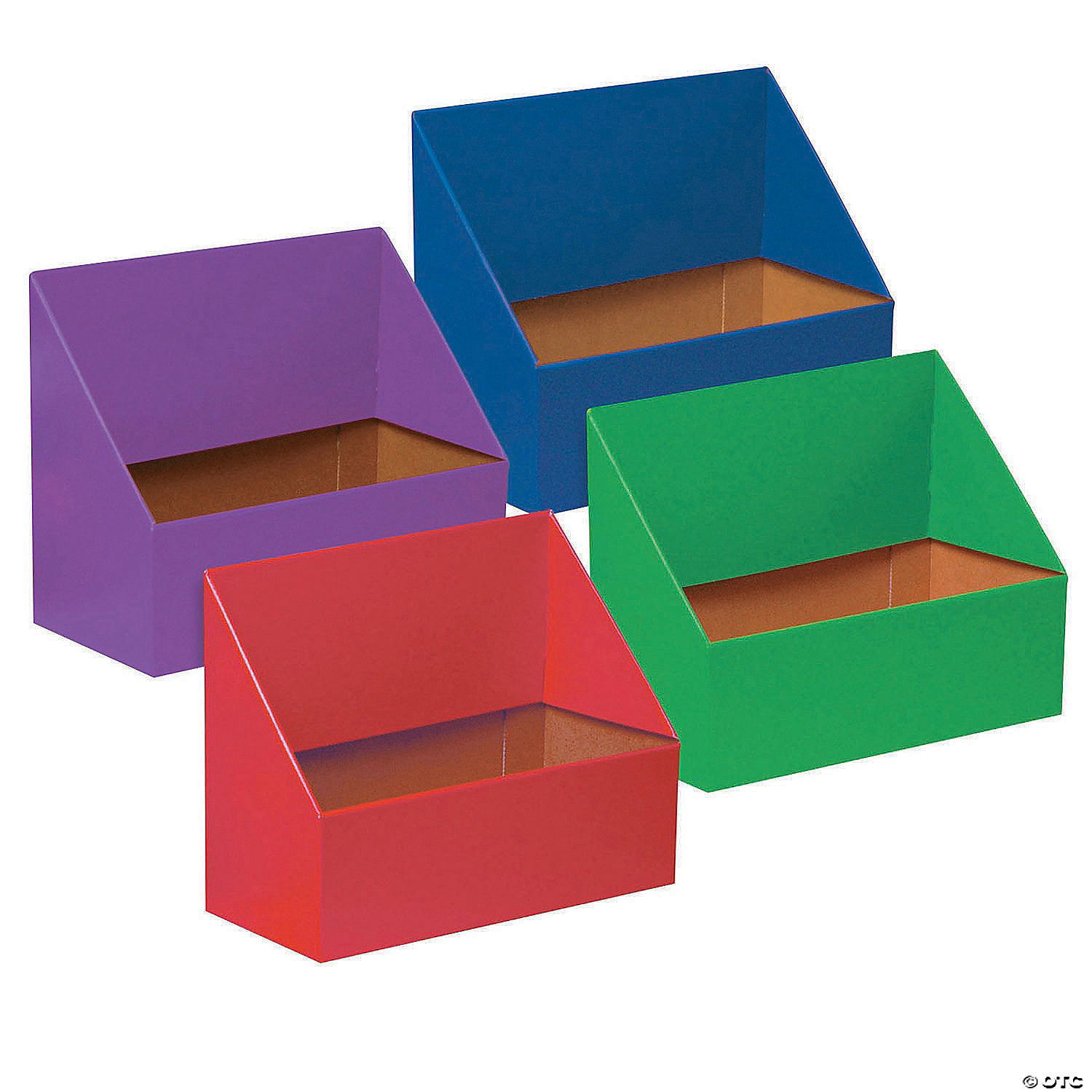 Folder Holder Assortment Assorted Colors 9 75 H X 12 W X 5 75 D Pack Of 4 Oriental Trading