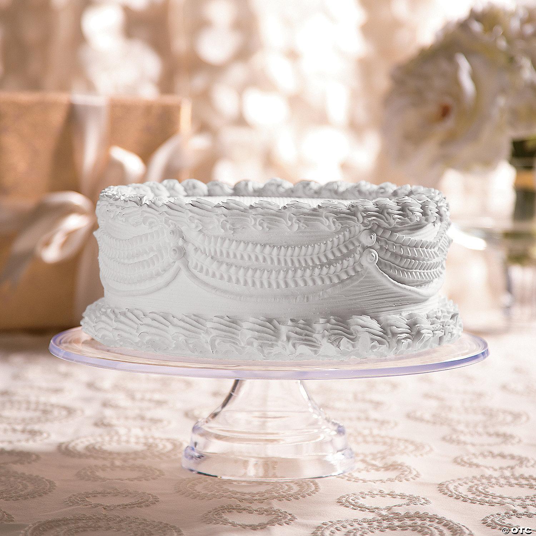 "White Round Wedding Cake Stand 14/"" /& 16/"" Diameter Sizes"