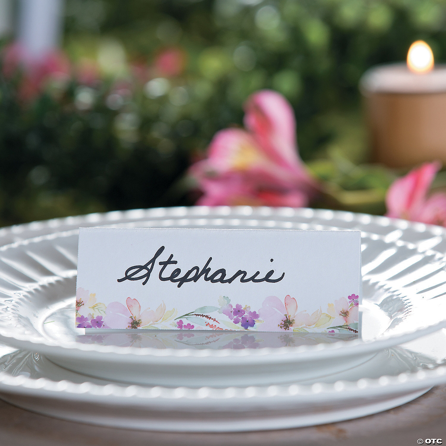 8 Personalized Place Cards Tea Party Place Cards Easter Place Cards Garden Party Place Cards Spring Place Cards