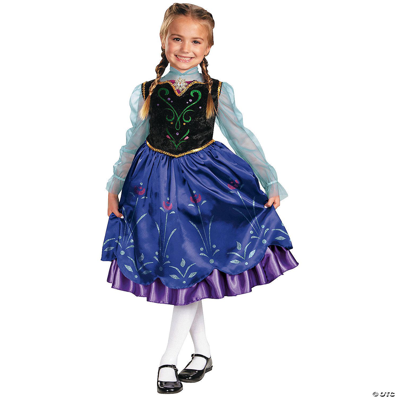 Disney Girls Dress Up Costume Frozen Anna