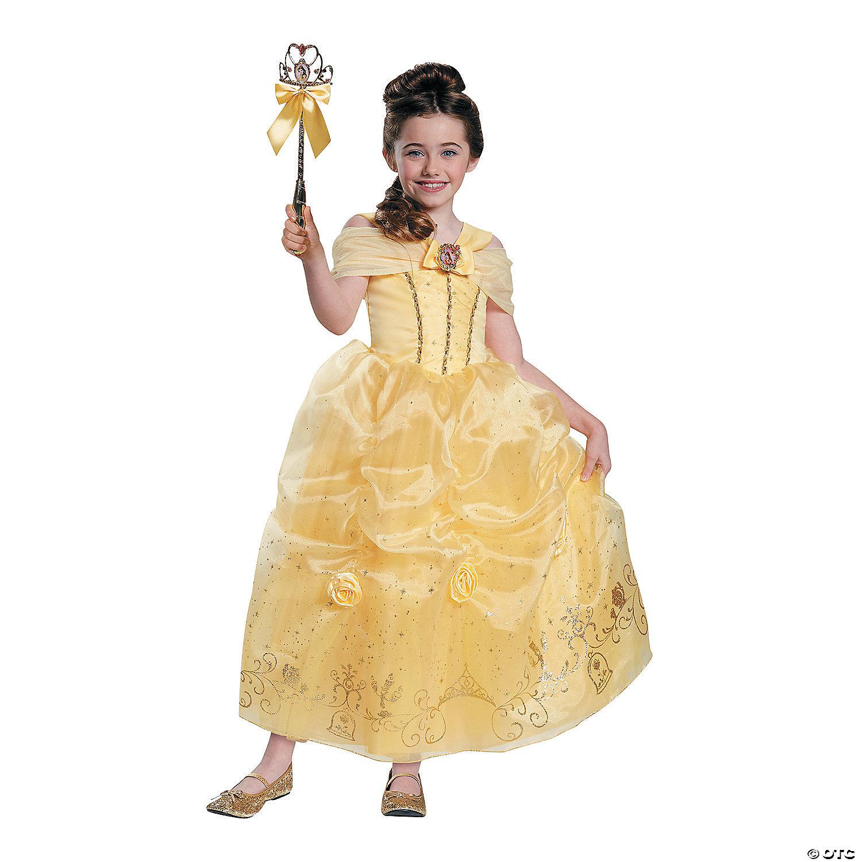 Girl S Prestige Disney S Beauty The Beast Belle Costume Medium Oriental Trading