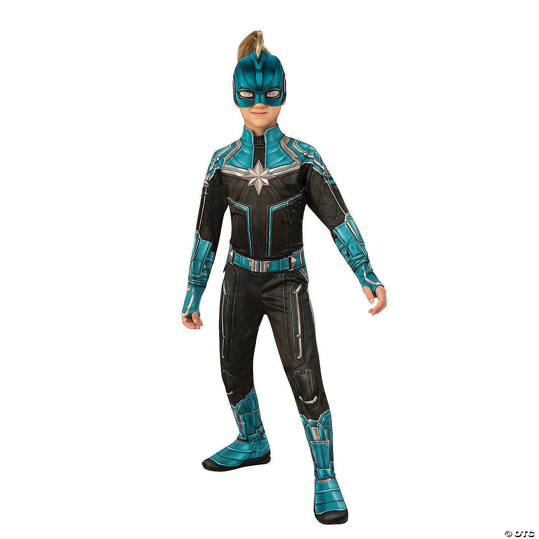 Girl S Economy Captain Marvel Kree Costume Oriental Trading Alternate costume designs for captain marvel in avengers: girl s economy captain marvel kree costume