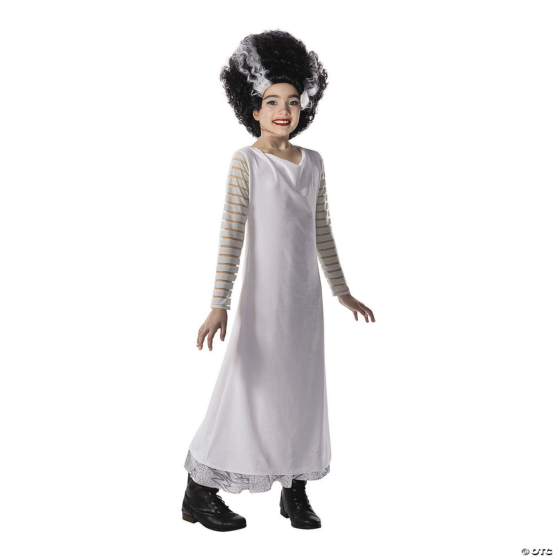 Girl S Universal Monsters Bride Of Frankenstein Costume Oriental Trading