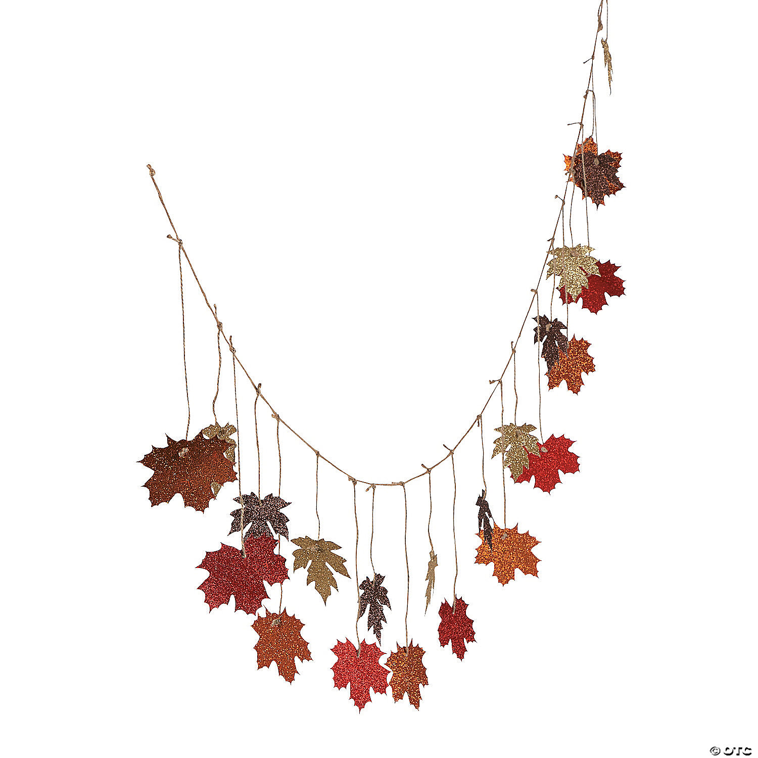 Glittered Maple Leaves Garland Oriental Trading
