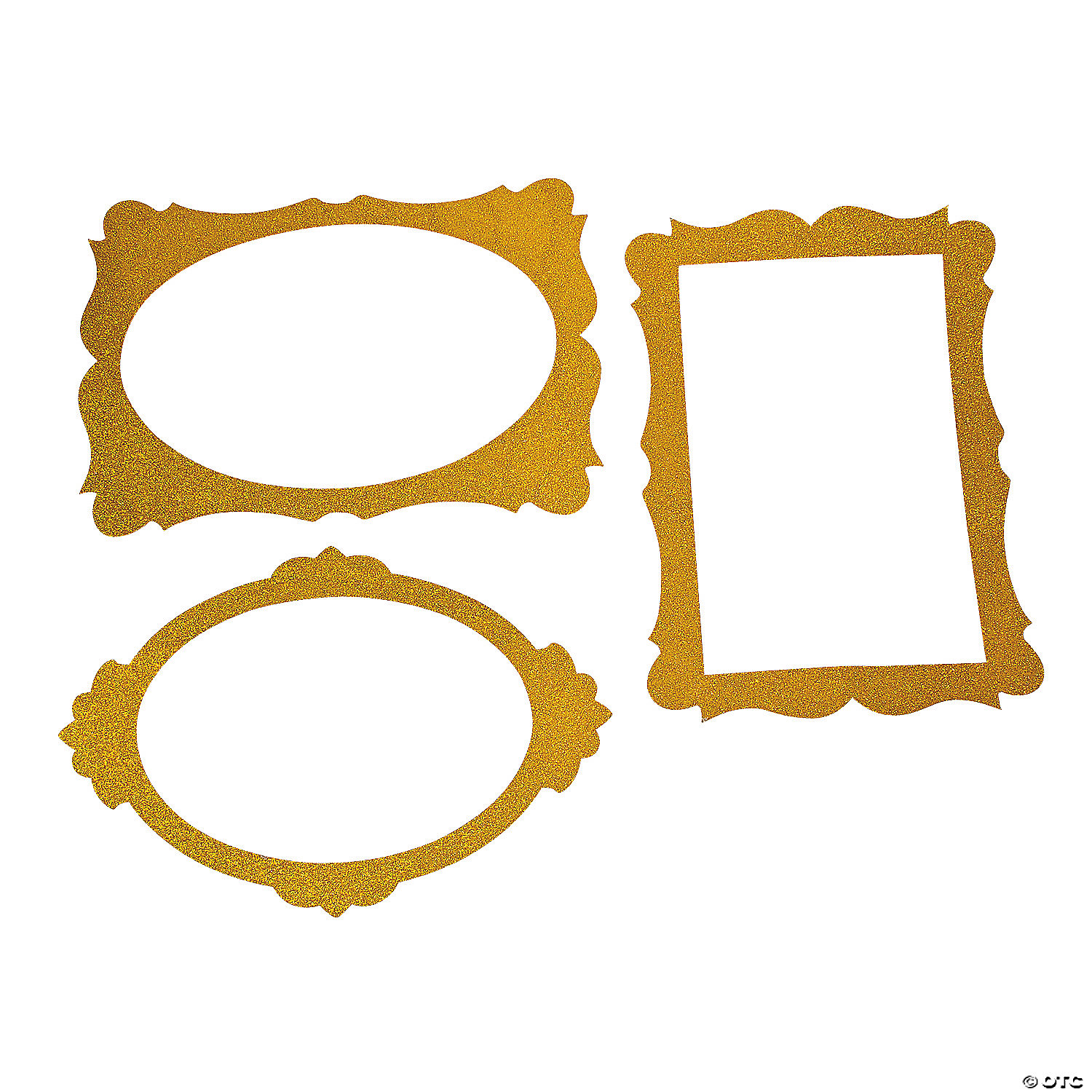 Gold Glitter Picture Frame Cutouts (3 Piece Set) 16\