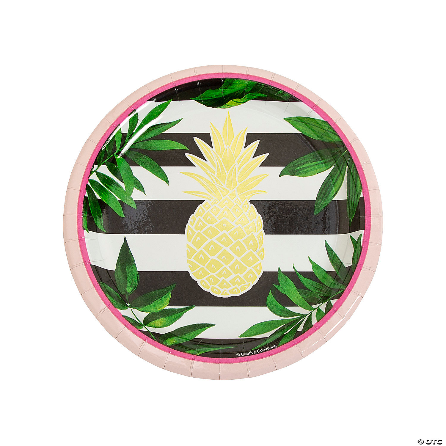 Gold Party Plates Pineapple Party Supplies Pineapple Party Plates Fiesta Party Pineapple Paper Plates Pineapple Party Decor Luau Party
