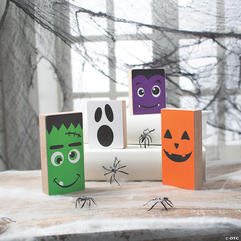 Halloween Mantel Block Party 2020 Halloween Monster Tabletop Block Halloween Decorations | Oriental