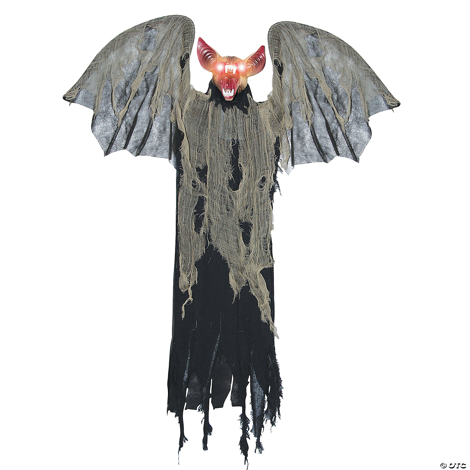 Hanging Bat with Wings Halloween Decoration