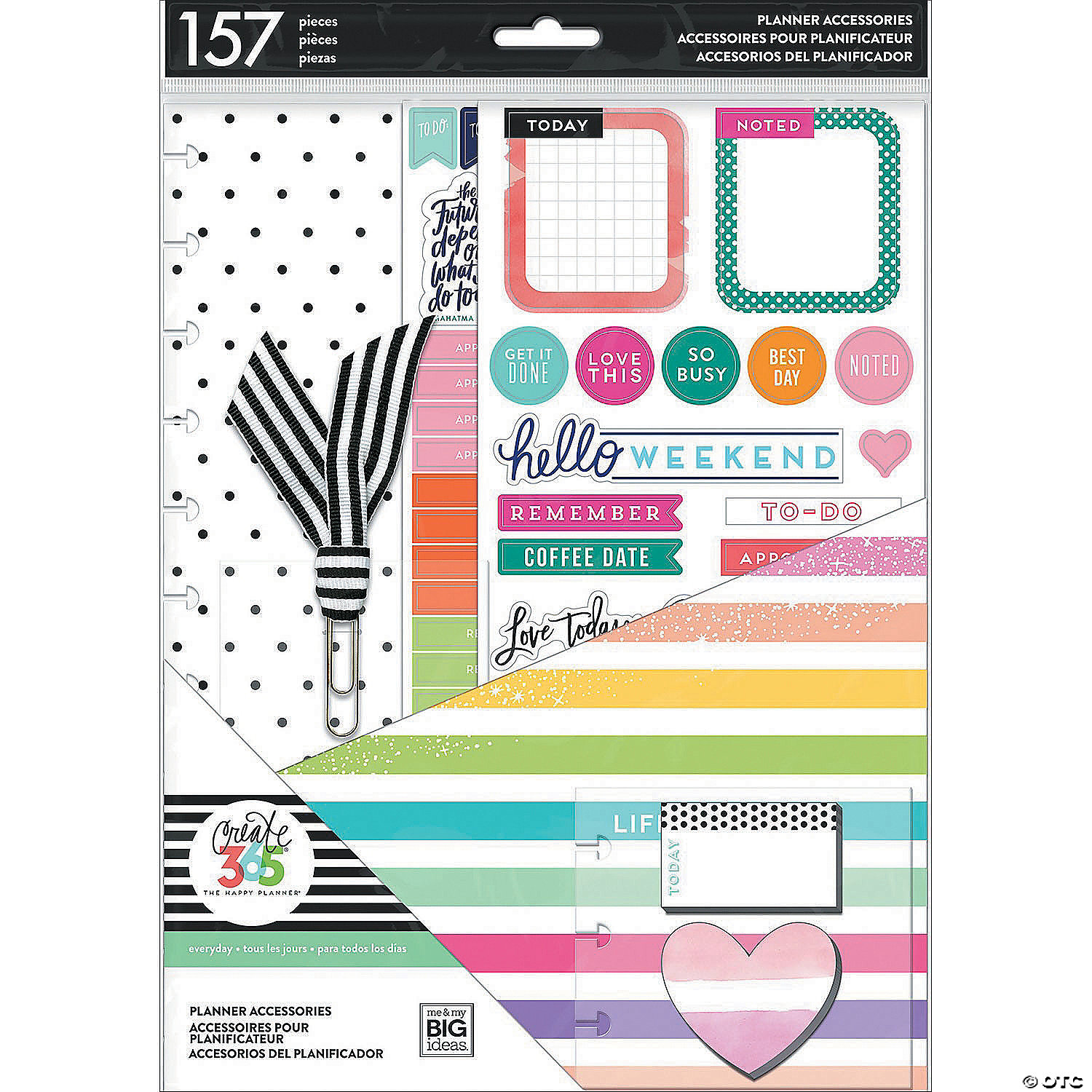 Happy Planner Big Accessories-Life Is Lovely, 157/Pkg