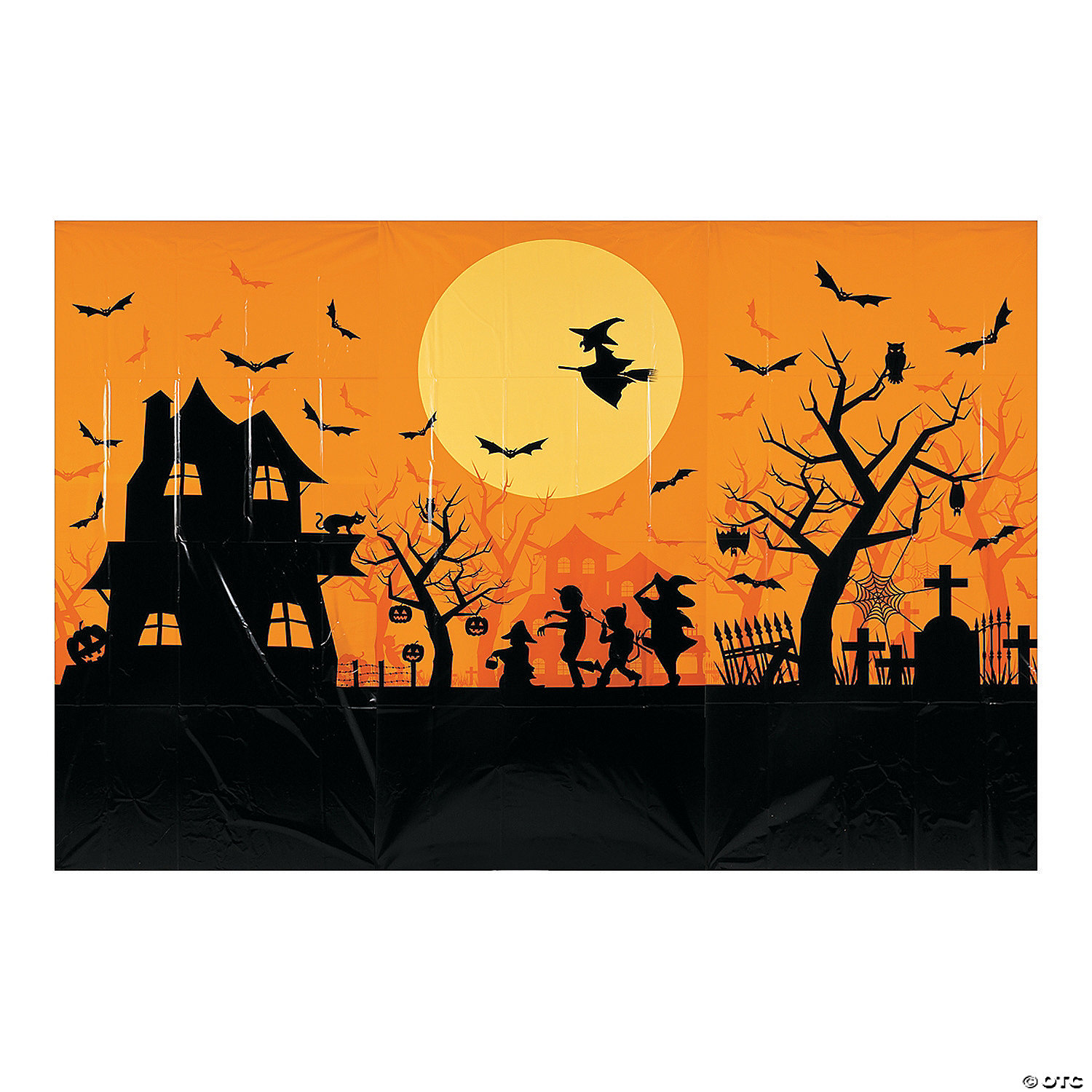Haunted House Classic Backdrop Halloween Decoration