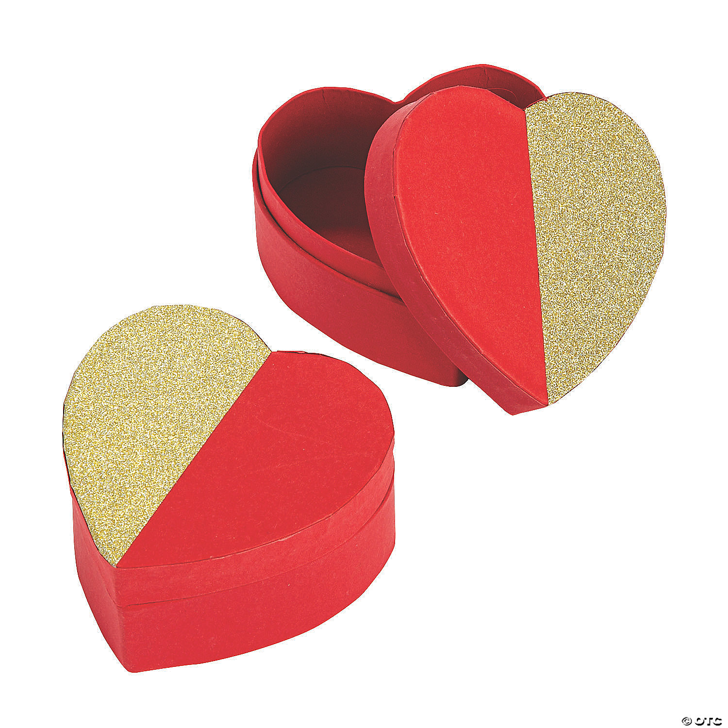Heart-Shaped Glitter Top Containers