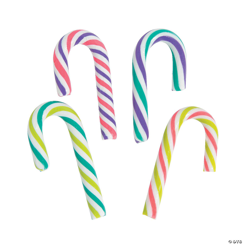 "Miniature 2/"" Plastic Sparkle Candy Cane 18 Christmas Ornaments"