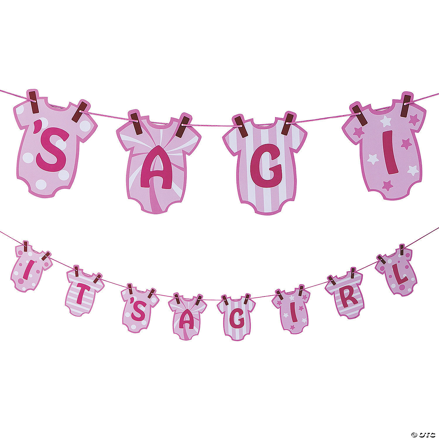 It S A Girl Baby Shower Garland Oriental Trading