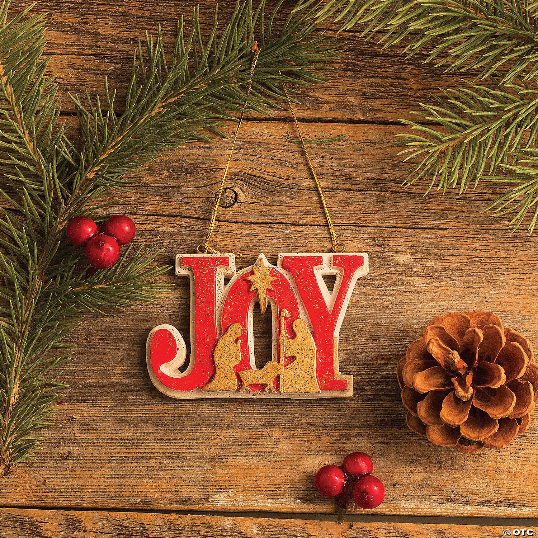 Joy Nativity Ornaments