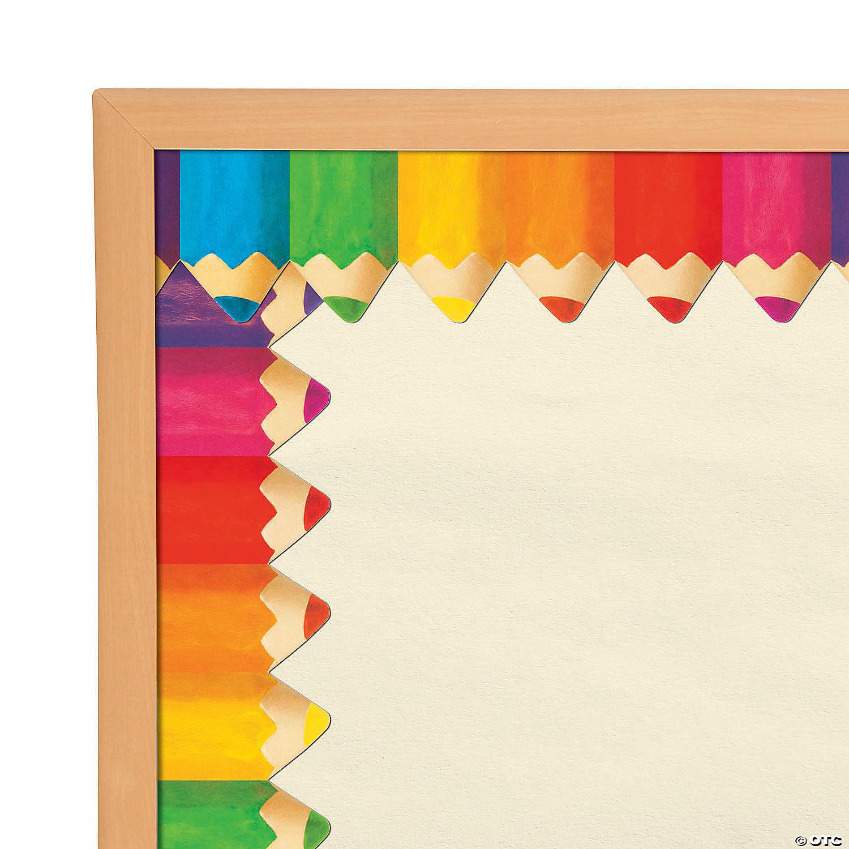 Jumbo Colored Pencil Bulletin Board Borders Oriental Trading