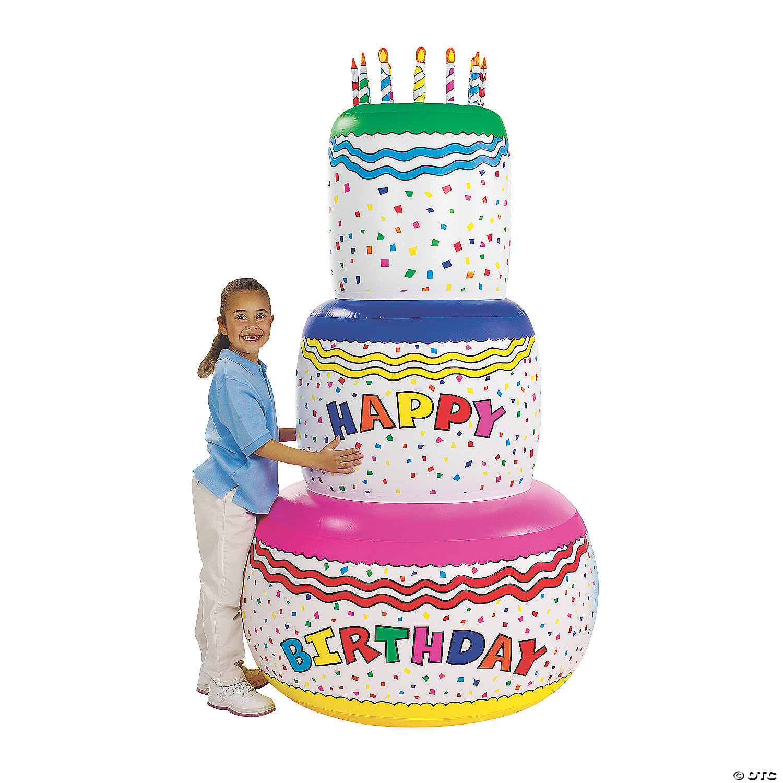 Remarkable Jumbo Inflatable Birthday Cake Funny Birthday Cards Online Unhofree Goldxyz