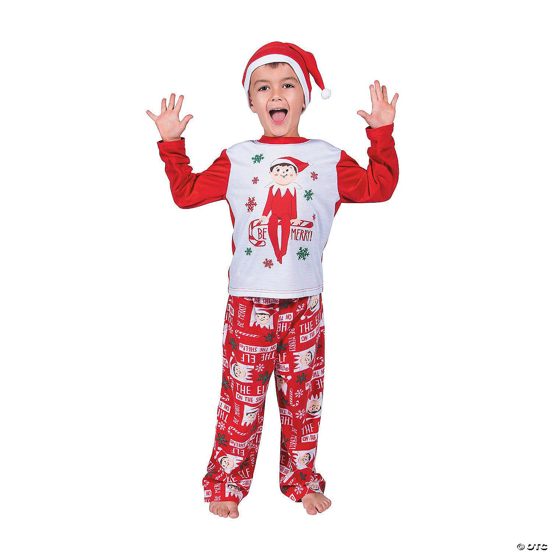Toddler Christmas Pajamas.Kid S Elf On The Shelf Pajamas
