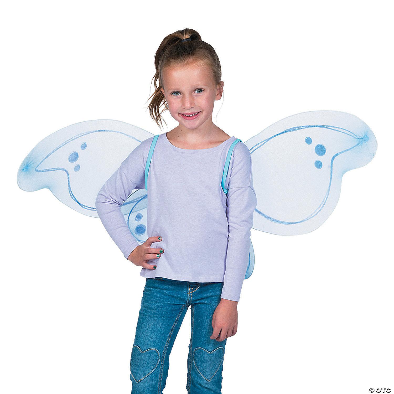 Garden Fairy Pixie Wings Blue Purple Cute Fancy Dress Up Halloween Child Costume