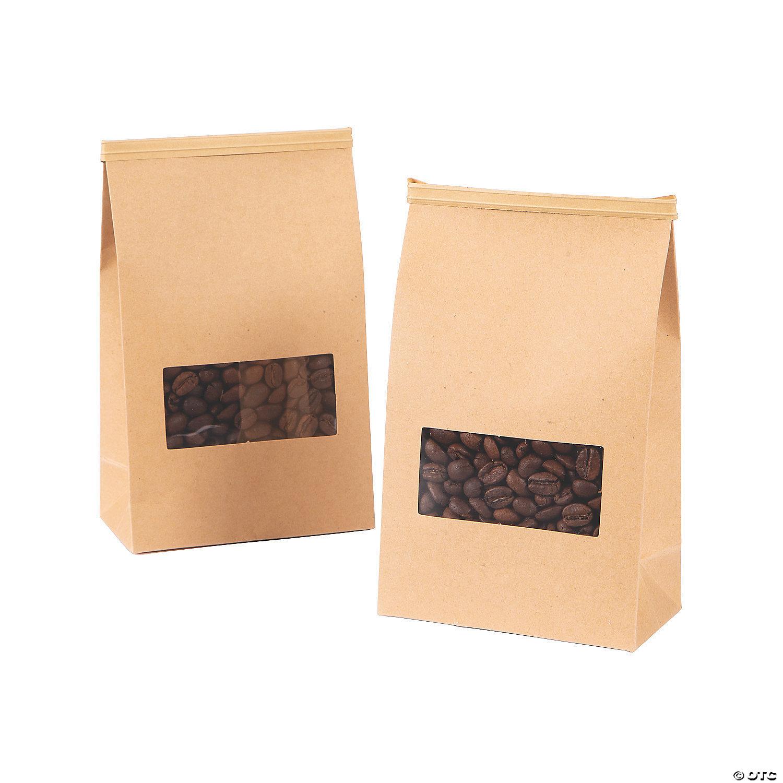 Kraft Paper Coffee Bags With Ties