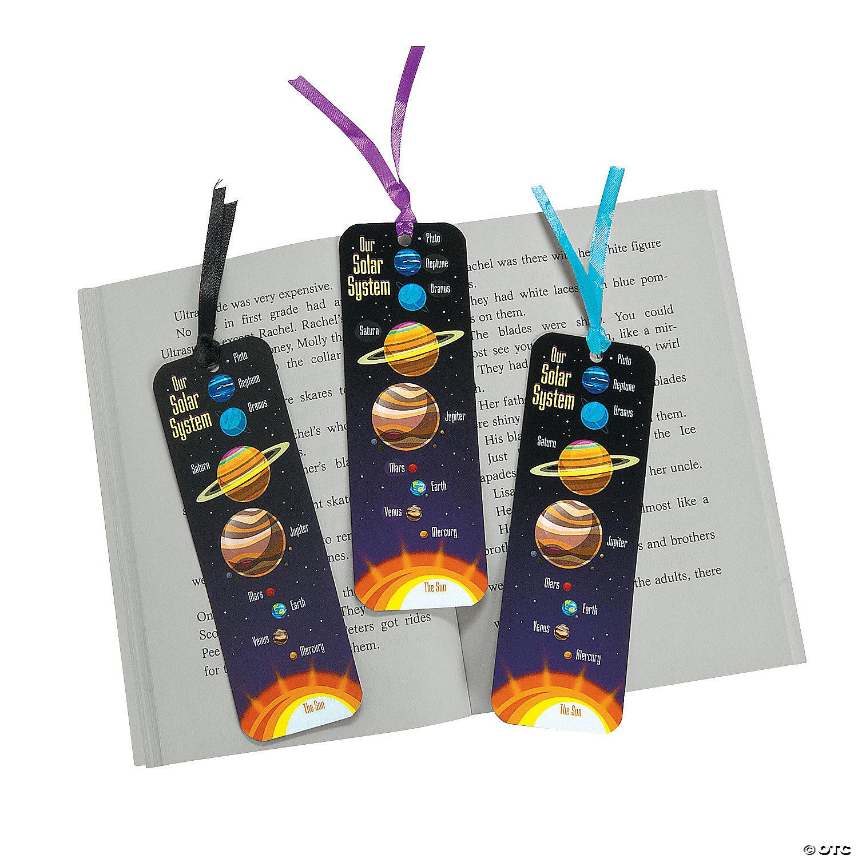 Laminated Solar System Bookmarks Oriental Trading