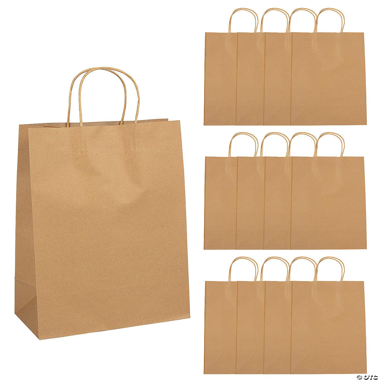 large brown kraft paper gift bags