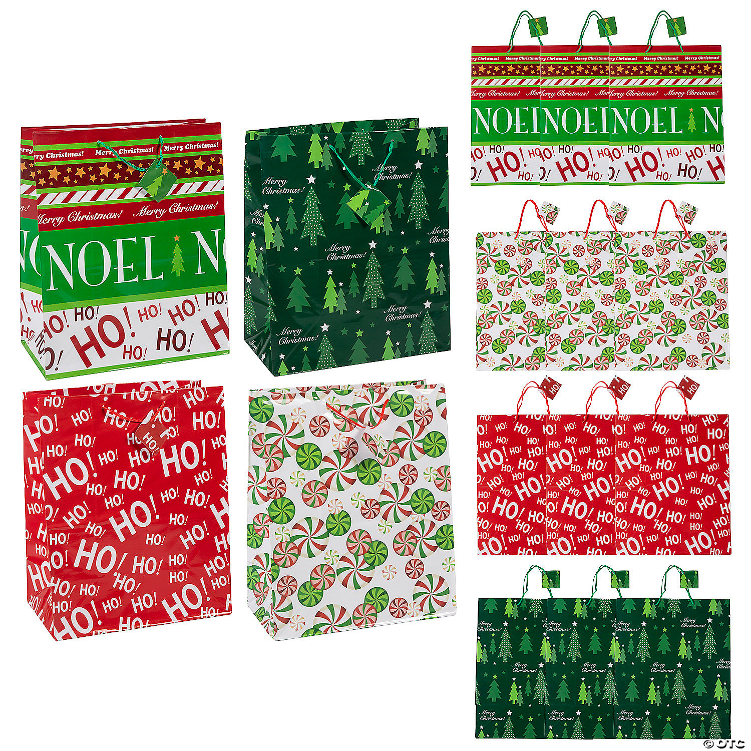 Christmas Gift Bags.Large Christmas Gift Bags With Tags