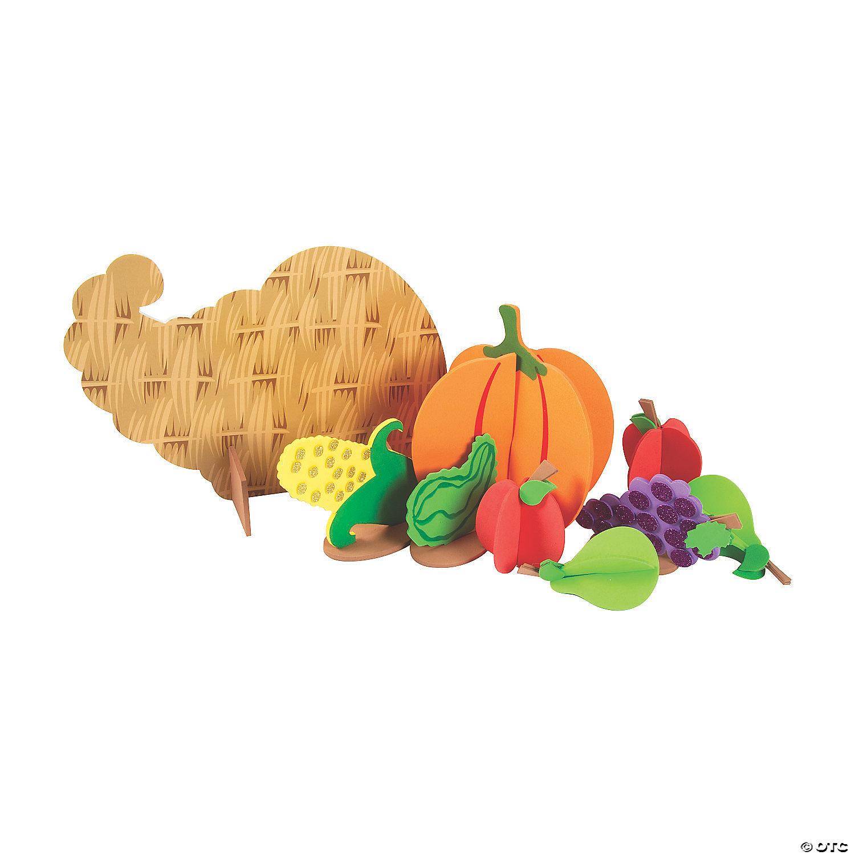 Large Tabletop Cornucopia Thanksgiving Craft Kit Oriental Trading
