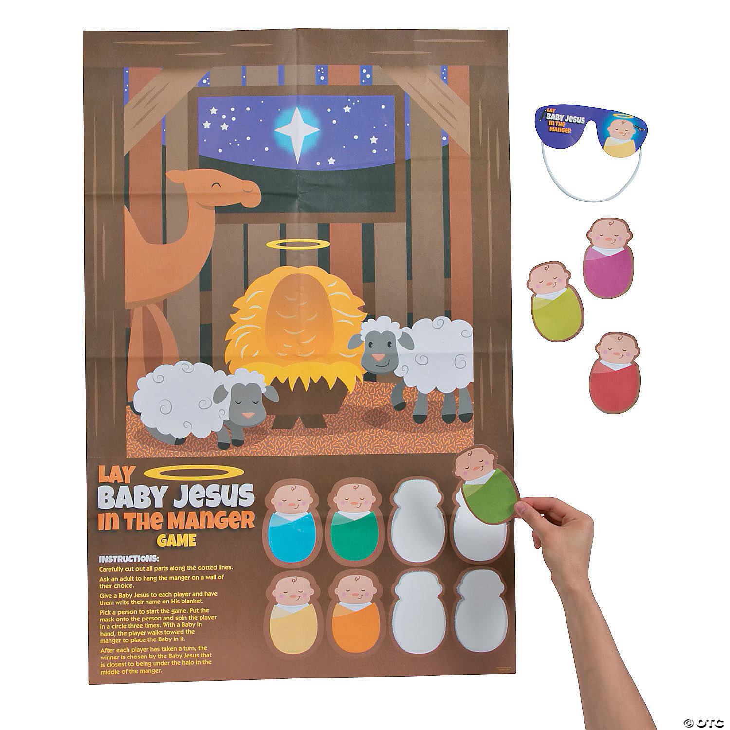 Lay Baby Jesus In The Manger Christmas Party Game