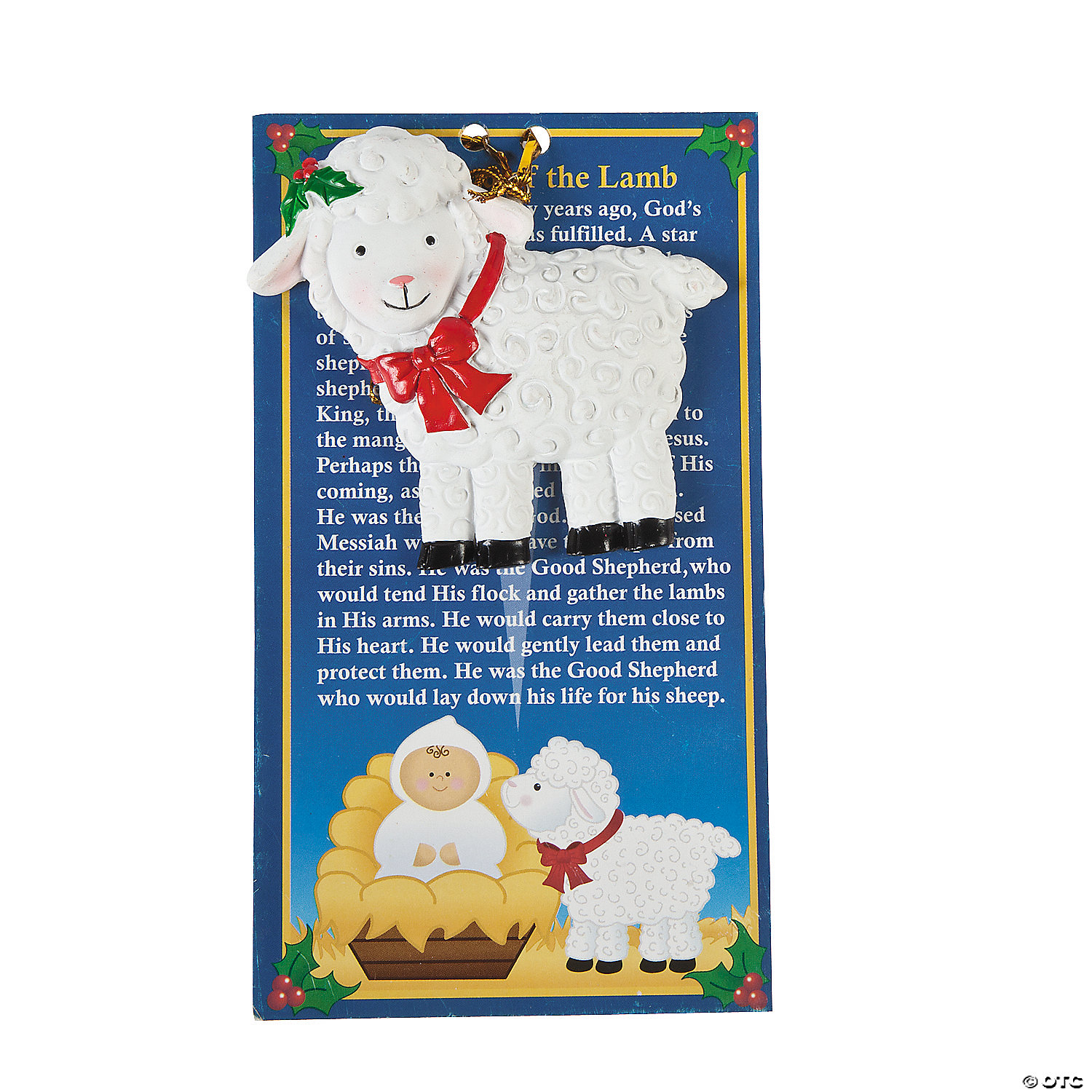 "Legend of the Lamb"" Christmas Ornaments with Card"