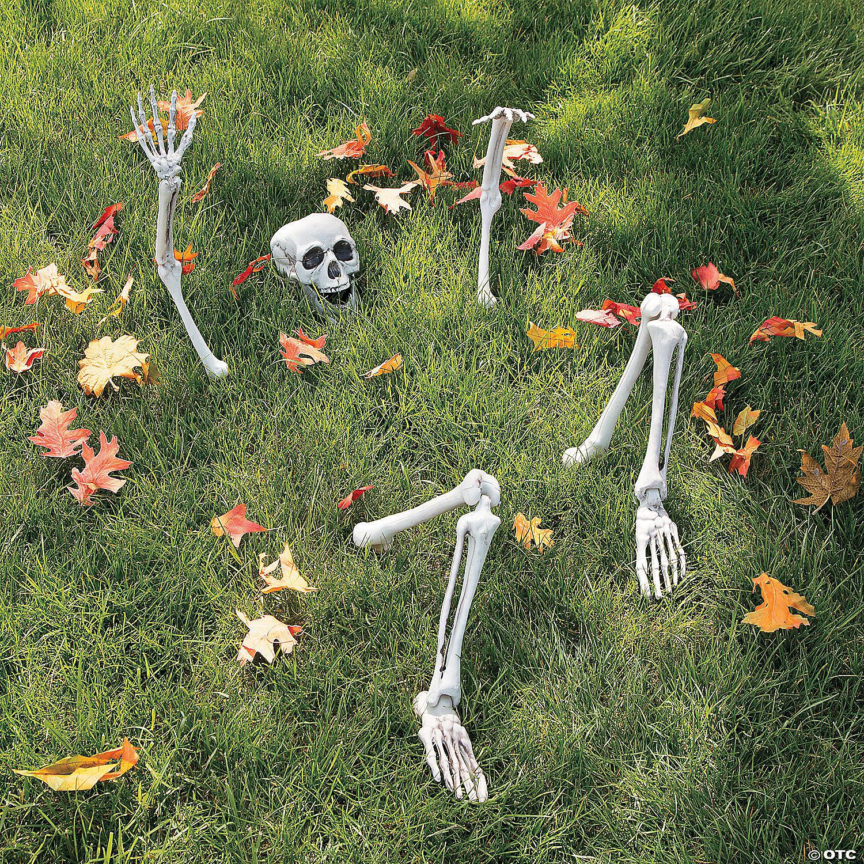 Life Size Skeleton Yard Halloween Decoration