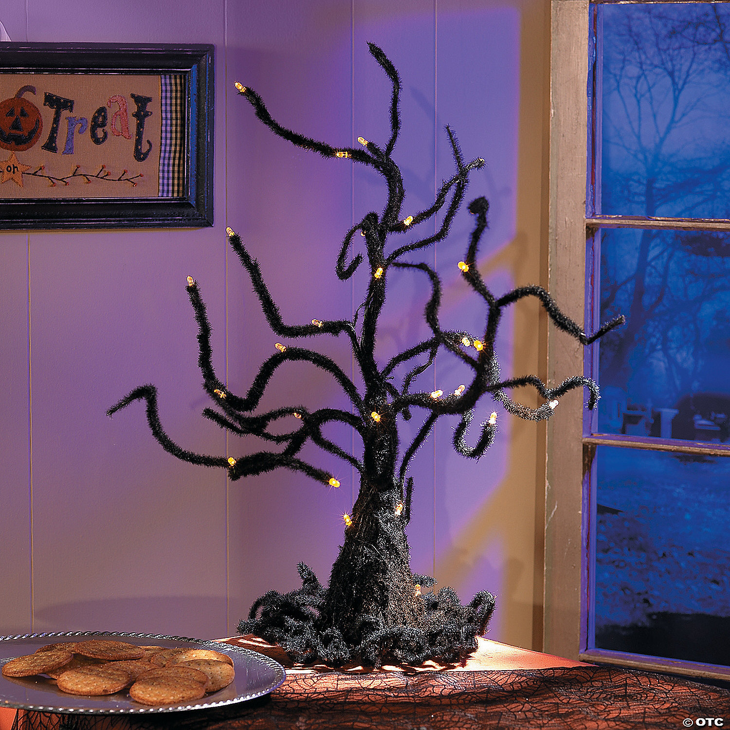 Light Up Wire Ghost Tree Halloween Decoration