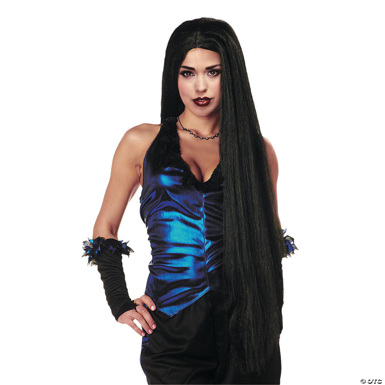 Long Black Wig Oriental Trading