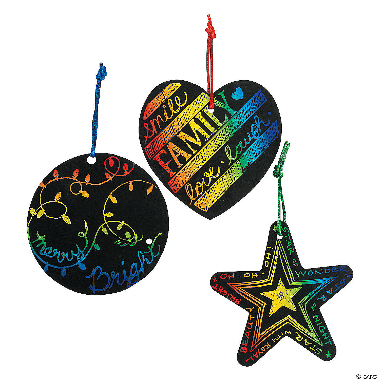 Magic Color Scratch Christmas Ornaments Oriental Trading